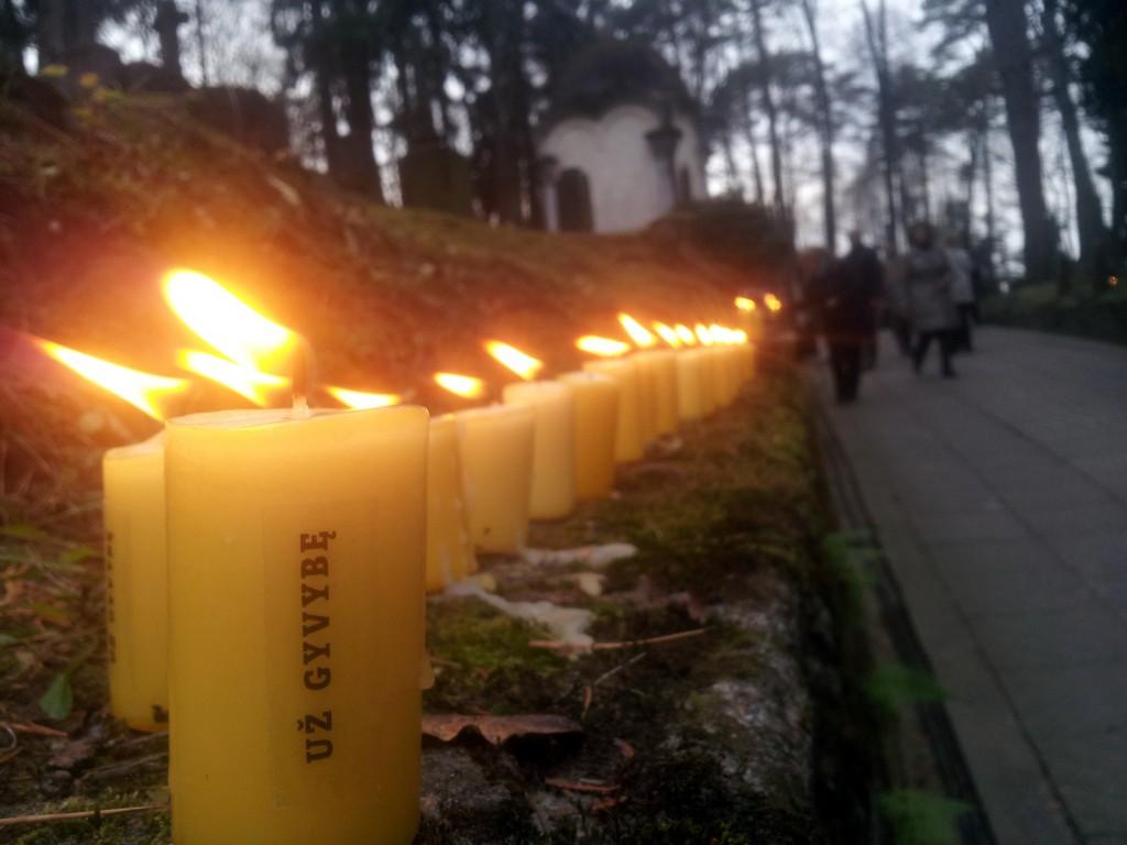 Visoje šalyje lietuviai žiebė liepsneles už gyvybę