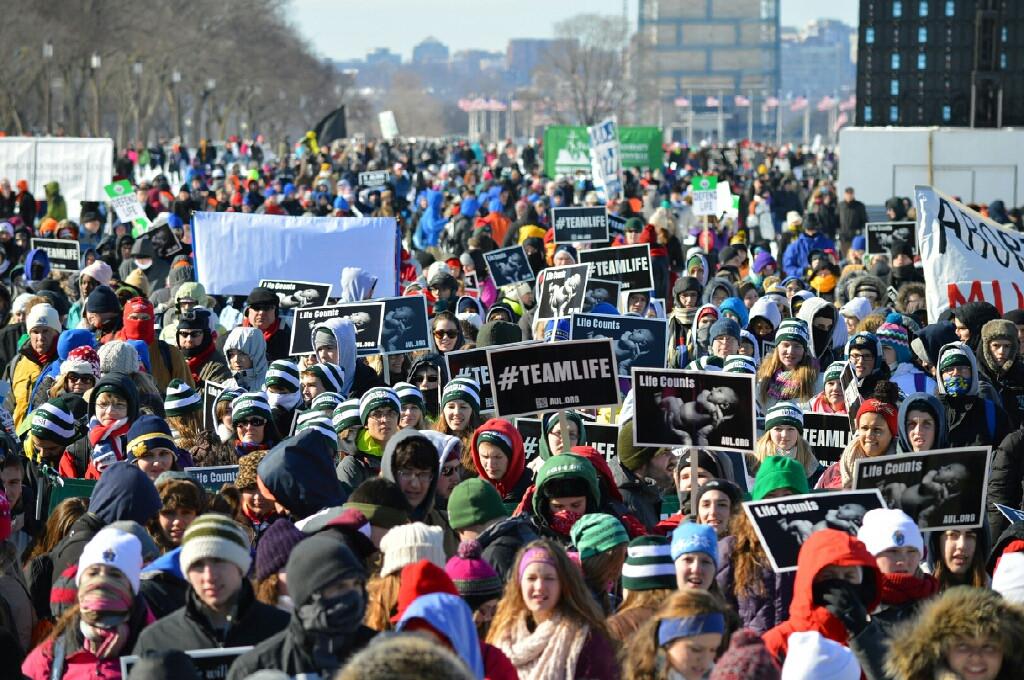 Dešimtys tūkstančių ėjo Žygyje už Gyvybę Vašingtone
